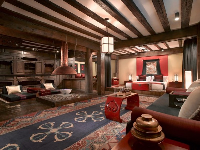 Banyan Tree Ringha Tibetan_Lodge_-_Living_Room_