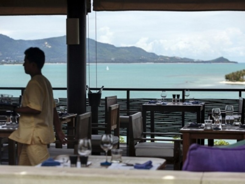 Six Senses Samui Dining_on_the_Hill_-_view_